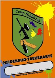 Treuekarte Camp Heidekrug Vorderseite
